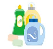 環境にやさしい洗剤のイラスト
